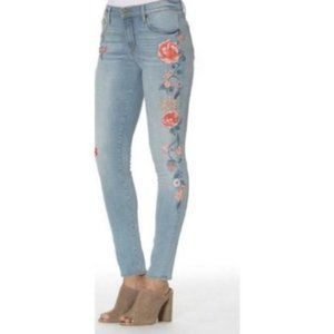 Driftwood Jackie Embroidered Skinny Jeans LIKE NEW